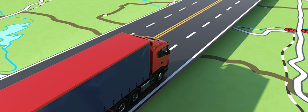Truck route planning software